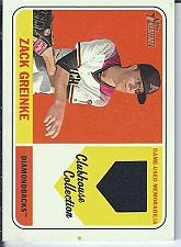 Buy Zack Greinke 2018 Topps Heritage Clubhouse Collection Jersey Relic