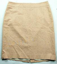 Buy Loft Womens Pencil Skirt Size 14 Orange White Geometric Back Zip Lined