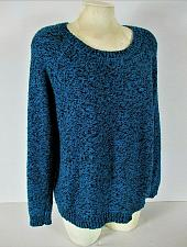 Buy STUDIO WORKS womens XL L/S blue black PULLOVER knit sweater (B7)