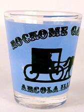 "Buy Rockome Gardens Arcola Illinois Horse And Buggy 2.25"" Collectible Shot Glass"