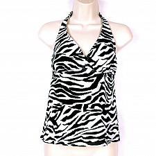Buy Catalina Women's Halter Bikini Swimsuit Top Size Small Zebra Print