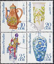 Buy GERMANY DDR [1982] MiNr 2667-70 4er ( OO/used ) Meissen