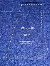 """Buy Windmill Quilting Template- For 12"""" Square Clear 1/8"""""""