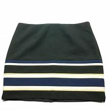 Buy White House Black Market Petites A Line Skirt 14P Striped Black Blue White