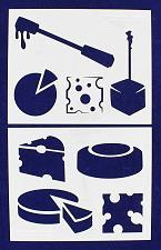 Buy Cheese Stencils-2 Pc Set - 14 Mil Mylar