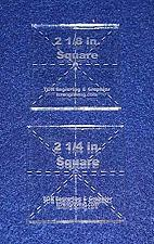 """Buy Square Templates. 2 Piece Set of 2 1/8"""" & 2 1/4"""""""" - No Seam -Clear ~1/4""""- Postag"""