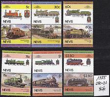 Buy NEVIS [1985] MiNr 0280-91 ( **/mnh ) Eisenbahn (Paare)