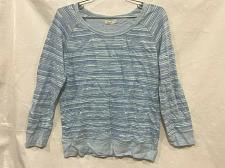 Buy Faherty Men's Size Small Crewneck Blue Indigo Long Sleeve Pullover Sweatshirt