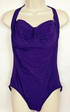 Buy Eddie Bauer Slim Fit Women's 1 Piece Swimsuit Size 12D Solid Purple