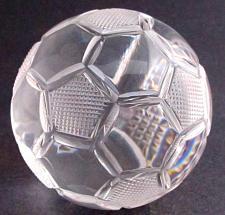 Buy Hand Cut Glass soccer ball award customize paperweight
