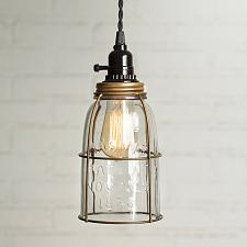 Buy Antique Brass Half Gallon Mason Jar Pendant Lamp Light Rustic Vintage Farmhouse