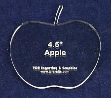 """Buy Apple 4 1/2"""" Height & Width - Clear 1/4"""" Thick Acrylic"""
