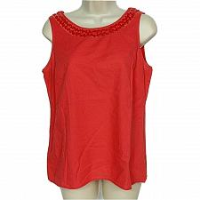 Buy Ann Taylor Loft Womens Tank Top Size Small Orange Sequined Neck Scoop Neck