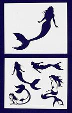 Buy Mermaid Stencils -2 pc set-Mylar 14mil - Painting /Crafts/ Templates