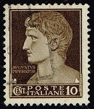 Buy Italy #215 Augustus Caesar; Used (3Stars) |ITA0215-09