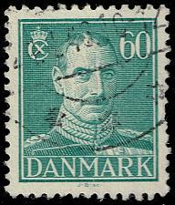 Buy Denmark #287 King Christian X; Used (3Stars) |DEN0287-04XRS