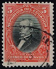 Buy Ecuador #206 Jose M. Urvina; Used (2Stars) |ECU0206-06