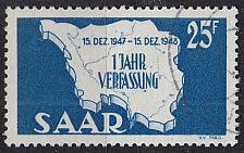 Buy GERMANY Saar [1948] MiNr 0261 III ( O/used ) [02]