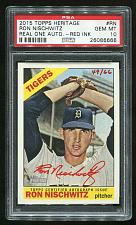 Buy 2015 TOPPS HERITAGE REAL ONE RED AUTO RON NISCHWITZ PSA 10 GEM MINT (26086666)