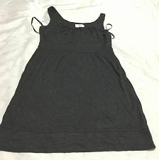 Buy Loft pleated collar sleeveless swing dress size 4 p worn twice Graphite color