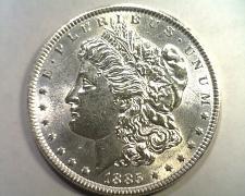 Buy 1885 MORGAN SILVER DOLLAR CHOICE ABOUT UNCIRCULATED+ CH. AU+ NICE ORIGINAL COIN