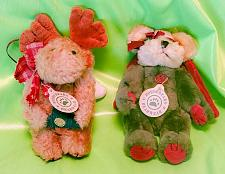 Buy Lot of 2 1990-1998 Boyds Bearwear Christmas Hat w Angel Wings Plush Jointed