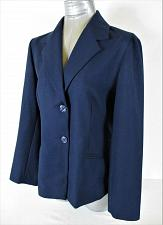 Buy ALFRED DUNNER womens Sz 10 L/S blue BUTTON down 2 POCKET jacket (A6)P