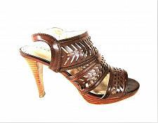 Buy Adrienne Vittadini Brown Slingback Peep Toe Heels Sandals Women's 7 M (SW10)