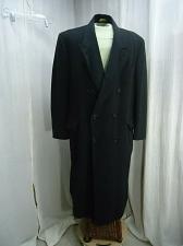 Buy Men's Black 100% Cashmere Wool Overcoat Long Dress Coat Topcoat size 44