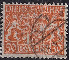 Buy GERMANY Bayern Bavaria [Dienst] MiNr 0022 x ( O/used )