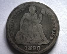 Buy 1890 SEATED LIBERTY DIME GOOD G FROM BOBS COINS FAST SHIPMENT