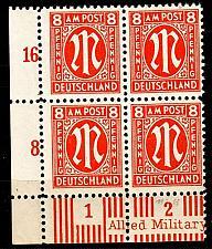 Buy GERMANY Alliiert AmBri [1945] MiNr 0021 A ( **/mnh ) [01] 4er