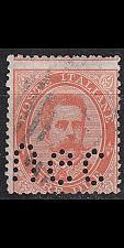 Buy ITALIEN ITALY [1882] MiNr 0049 ( O/used ) [01] perfin Firmenlochung