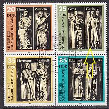 Buy GERMANY DDR [1983] MiNr 2808 4er F04 ( OO/used ) [01] Plattenfehler