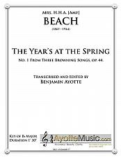 Buy Beach - The Year's at the Spring, op. 44, no. 1
