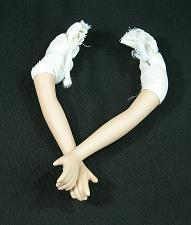 """Buy Vintage Bisque Porcelain Doll Arms and Hands 6"""" overall w/ Cloth and wires"""
