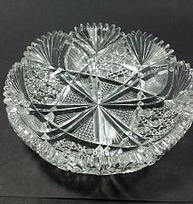 Buy American Brilliant Period hand Cut Glass dish wheel polished sharp ANTIQUE ABP