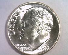 Buy 1955 ROOSEVELT DIME GEM / SUPERB UNCIRCULATED GEM/SUPERB UNC. NICE ORIGINAL COIN