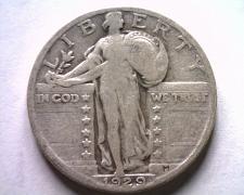 Buy 1929 STANDING LIBERTY QUARTER VERY GOOD /FINE VG/F NICE ORIGINAL COIN BOBS COINS