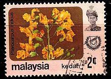 Buy MALAYSIA [Kedah] MiNr 0114 II ( O/used ) Pflanzen