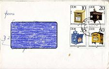 Buy GERMANY DDR [1985] MiNr 2924-27 4er ( Brief ) Post