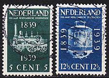 Buy NIEDERLANDE NETHERLANDS [1939] MiNr 0334-35 ( O/used ) Eisenbahn
