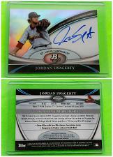 Buy MLB JORDAN SWAGERTY CARDINALS AUTOGRAPHED 2011 BOWMAN PLATINUM REFRACTOR MINT