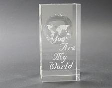 Buy Globe pattern glass paperweight, You are my World,