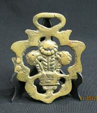 Buy Vintage Sheaves of Wheat Horse Brass Medallion Harness PLEASE READ
