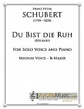 Buy Schubert - Du bist die Ruh for for Medium Voice in B-flat Major