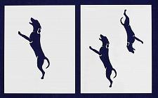 "Buy Blue Tic Hound Dog Stencils- 5"", 6"", 7"" -Mylar 2 Pieces of 14 Mil 8"" X 10"" - Pai"