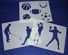 Buy Sports Stencils- 3 Piece Set -14 Mil Mylar