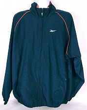Buy Vintage 90s Reebok Men's Windbreaker Jacket Size XL Zip Up Navy Blue Orange