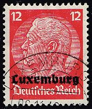 Buy Luxembourg #N7 Hindenburg - German Occupation; Used (4Stars) |LUXN07-01XRP